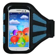 Blue Workout Running Sports GYM Mesh  Armband Skin Cover Case For Smart Phone