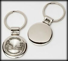 Superior PEWTER Stainless Steel KEYRING - Your Family Coat of Arms Crest -A to F