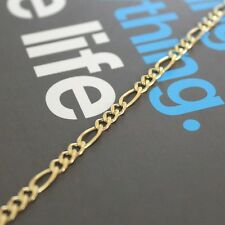 Solid 10k Yellow Gold Figaro Chain Necklace (choose length and width)