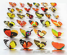 Colorful 3D Artificial beautiful Butterflies for Wedding Home party Decorations