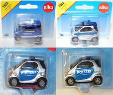 Siku 1302 Smart fortwo Coupé (Typ C 450) Modell 1998-2002 POLIZEI / THW