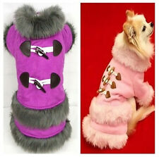 Good Warm Winter Small Girl Dog Pet Clothes Apparel Princess Dress Size XS-XL