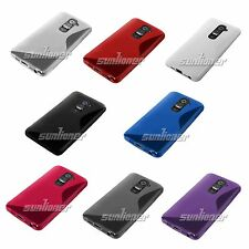 S-Line TPU Silicone Skin Case Cover for LG G2, D802 + Screen Protector