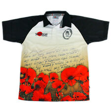 BRITISH ARMY MENS 'LETTER' 2013 REMEMBRANCE POPPY RUGBY SHIRT