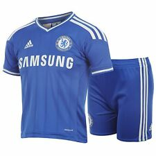 Authentic Junior adidas Chelsea Home Kit 2013 - 2014, Shirt & Shorts, 1-2 Years