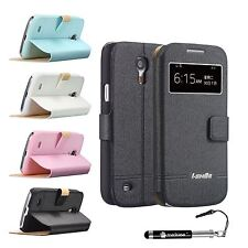 iShine Stylish S View Smart Flip Leather Case window for Samsung Galaxy S4 MINI