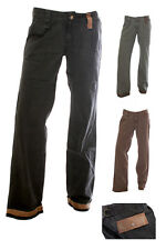 Womens trousers Ladies trousers canvas style leather detail SIZE 8 10 12 14