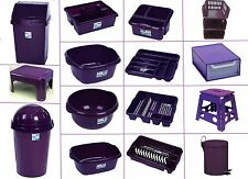 PLASTIC 50L SWING BIN DISH DRAINER STACKER WASHING UP BOWL CADDY VIOLET KETTLE