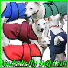 Dog Coat with Underbelly Protection. Water Resistant and Fleece lined