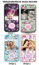 PERSONALIZED CUSTOM IMAGE PHOTO VINTAGE ROSE FLORAL Case For iPhone 4 4S 5 5S 5C