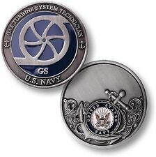 GS = Gas Turbine Tech ~ Snipes ~ U.S. Navy Engineering Challenge Coins ~ Navy ~