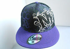 BRAND NEW BLACK/PURPLE  BUBBLE SHINY NY HIP HOP FITTED FLAT  PEAK BASEBALL HATS
