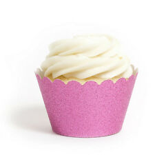 Re-usable Glitter Cupcake Wrappers - 6 colours available