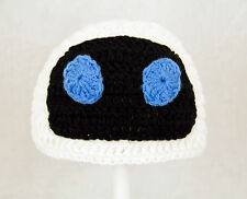 Eve Hat from Wall-e, Knit / Crochet Robot Disney Pixar Beanie baby-adult