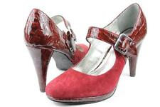 Style & Co Britty Crimson Red Mary Jane Pumps US 9.5