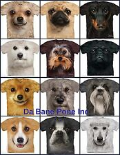 AUTHENTIC THE MOUNTAIN SMALL DOG DOGS BIG FACE ANIMAL PET T TEE SHIRT S-5XL