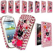 XMAS GIFT BARBIE DIAMOND FLOWER CASE COVER FOR VARIOUS MOBILE PHONE+SCREEN FILM