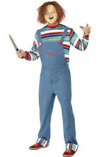 Mens Chucky Doll Childs Play Movie Halloween Fancy Dress Costume & Mask