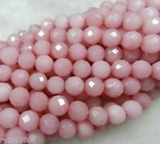 """6MM-10MM Perfect Faceted pink Ruby Loose Beads Gemstone 15"""""""