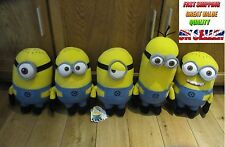 "OFFICIAL 11"" DESPICABLE ME 2 3D SOFT TOY PLUSH MINIONS DAVE FRIENDS UK XMAS GIFT"