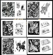 New Japanese Tattoo supplies designs reference BOOK sketch illustration magzine