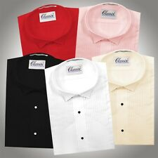"Classix Tuxedo Shirt ¼"" Pleated Classic Wing-tip White, Ivory, Black, Pink, Red"