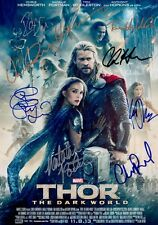 THOR 2: THE DARK WORLD Cast x 8 SIGNED Autographed PHOTO Print POSTER Avengers 1