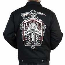 LUCKY 13 RACING THE REAPER MENS LINED JACKET MOTORCYCLE CHOPPER BIKER CHINO S-4X