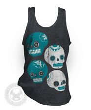 SUGAR SKULLS Mexican Day of the Dead party American Apparel BB408 neon Tank Top