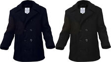 Wool Peacoat US Navy Style Military Cold Weather Outdoors Jacket