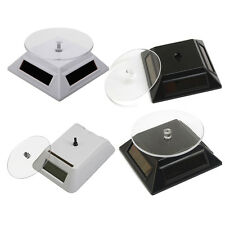 New Solar Powered 360 degree Rotating Display Stand Turn Table Plate Turntable