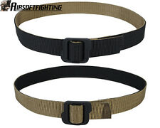 Tactical Military Nylon Double-sided Belt with Buckle Black&Coyote Brown M-XL A
