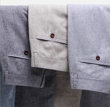 NEW-Men's Linen Slacks Thin Trousers Summer Fashion 7 Colors Casual Pant W28-W46