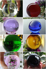 Hot Sell 8 colors Asian Quartz colored glass Crystal Ball Sphere 40mm +Stand