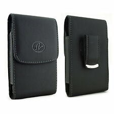 Vertical Leather Belt Clip Case Pouch Cover for Kyocera Cell Phones ALL CARRIERS