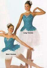 POETIC Ballet Tutu SHORT Turquoise CHRISTMAS Dance Costume Adult Large & Adu-XL