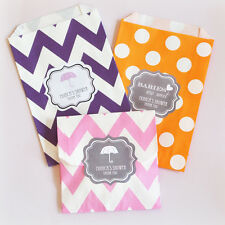 36 Babies Are Sweet Personalized Chevron Dots Wedding Party Favor Goodie Bags