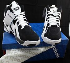 Reebok Men's KAMIKAZE II MID TEAM BLACK/WHITE V61032 Basketball Shoes