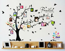 "Wall Decal Sticker Removable Photo Frame Tree With Family Quote 39""H x 80""W"