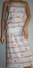 New White Women's Ringspun Island Midi Dress Size 14/16
