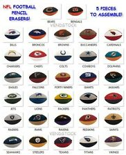 NEW 2013 NFL BUILDABLE MINI FOOTBALL PUZZLE ERASER 5 PIECE SET YOU PICK TEAM