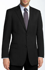 Hugo Boss Men's Virgin Wool Suit Pasolini Movie 50229481 Regular fit Solid Black