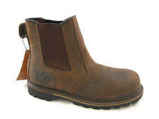 Mens V12 Leather Steel Toe Safety Work Boot, Brown, Rawhide, V1231, Sizes 7-13