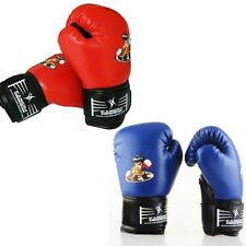 New PU Kids Children Cartoon Sparring Boxing Gloves Black Training Age5-10