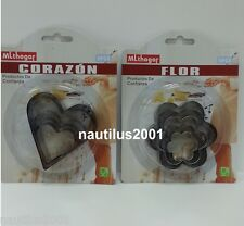 Cortador- cortapasta- molde corazon, flor / Cookie, baking, cutter forms