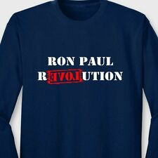 Ron Paul Election Revolution funny T-shirt President USA Long Sleeve Tee