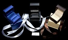 Elegent Bow Leatherette Ring Box Engagement/weeding Deluxe Gift Box Jewelry Box