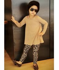 New Baby Girl Toddler Leopard Tights Leggings Pants Children Trousers Ages1-6Y
