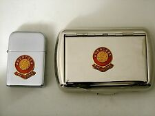 Football club lighter and tobacco tin, clubs A-O