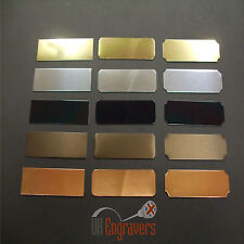 10 x ENGRAVED 100MM x 50MM ADHESIVE TROPHY PLAQUES AWARD PLATE BULK PACK LISTING